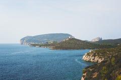 Het Schiereiland van Capocaccia, Sardina, Italië Royalty-vrije Stock Foto