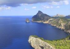 Het schiereiland van Formentor Stock Foto's