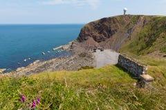 Het schiereiland van het Hartlandpunt dichtbij Clovelly Devon England royalty-vrije stock foto