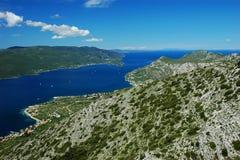 Het schiereiland van Peljesac stock foto