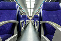 Het schieten binnen de trein in de Driepoot van de motielijn Royalty-vrije Stock Afbeelding
