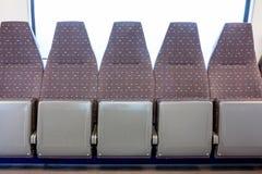 Het schieten binnen de trein in de Driepoot van de motielijn Royalty-vrije Stock Afbeeldingen