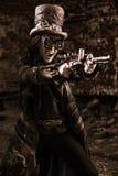 Het schieten steampunk Royalty-vrije Stock Foto's