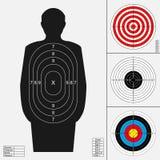 Het schieten van doelreeks Royalty-vrije Stock Afbeeldingen