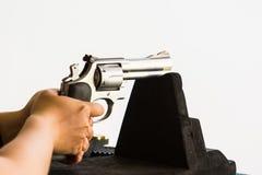 Het schieten van kanon opleiding Royalty-vrije Stock Fotografie