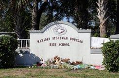 Het Schieten van Marjory Stoneman Douglas High School Parkland royalty-vrije stock foto's