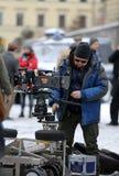 Het schieten voor een nieuwe biografische film over Tadeusz Kantor Royalty-vrije Stock Foto's