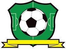 Het Schild van de Bal van het voetbal Stock Foto
