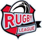 Het schild van de de ligabal van het rugby Stock Afbeelding