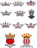 Het schild van de kroon Stock Illustratie