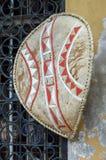 Het schild van de Masaidefensie vooraan Royalty-vrije Stock Afbeelding