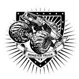 Het schild van de monstervrachtwagen Stock Afbeeldingen