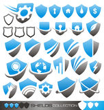 Het schild van de veiligheid - symbolen, pictogrammen en emblemen Royalty-vrije Stock Foto's