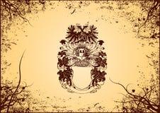 Het schild van Grunge. Vector royalty-vrije illustratie