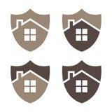 Het schild vectorillustratie van de huisveiligheid Eps 10 Vector stock illustratie