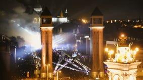 Het schilderachtige gebied van Spanje in de nieuwe jaar` s vooravond stock video