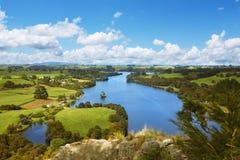Het schilderachtige landschap van Nieuw Zeeland Stock Afbeeldingen