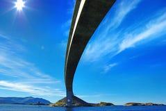 Het schilderachtige landschap van Noorwegen. Atlanterhavsvegen royalty-vrije stock afbeelding