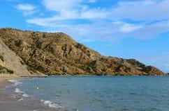 Het schilderachtige strand Royalty-vrije Stock Afbeelding