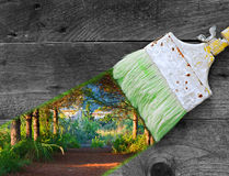Het schilderen aard Stock Foto
