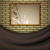 Het schilderen bij bakstenen muur Royalty-vrije Stock Foto's
