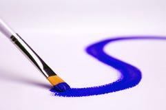Het schilderen blauw Royalty-vrije Stock Afbeelding