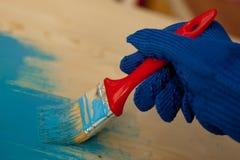 Het schilderen in blauw royalty-vrije stock fotografie