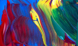 Het schilderen detail. Stock Foto