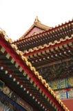 Het schilderen Detail, Verboden Stad, Peking, China royalty-vrije stock afbeelding