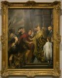 Het schilderen door Anthony van Dyck in het National Gallery in Londen Stock Afbeeldingen