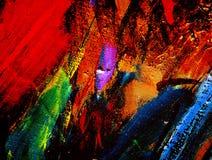 Het schilderen door olie op een canvas Royalty-vrije Stock Afbeelding