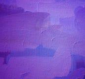 Het schilderen door olie op een canvas Stock Foto's