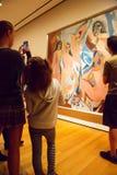 Het schilderen door Picasso in MoMA van New York Stock Foto