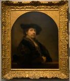 Het schilderen door Rembrandt in het National Gallery in Londen Stock Afbeeldingen