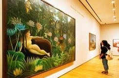 Het schilderen door Rousseau in MoMA van New York Stock Afbeelding