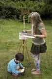 Het schilderen en het Trekken Stock Fotografie