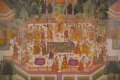 Het schilderen in het Mehrangarh-Fort van Jodhpur royalty-vrije stock foto