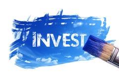 Het schilderen investeert woord vector illustratie