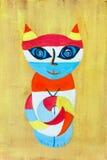 Het schilderen kat Royalty-vrije Stock Foto