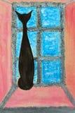 Het schilderen kat Royalty-vrije Stock Fotografie