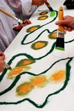 Het schilderen klasse Stock Foto's