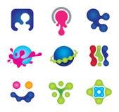 Het schilderen kleuren van sociaal embleem communautair geluk vector illustratie