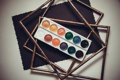 Het schilderen met aquarelle Stock Fotografie