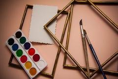 Het schilderen met aquarelle Royalty-vrije Stock Foto