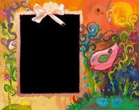 Het schilderen met bord royalty-vrije stock afbeeldingen