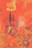 Het schilderen met hand vector illustratie