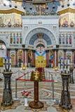 Het schilderen op de koepel van de Zeekathedraal van Heilige Nichola Royalty-vrije Stock Foto's