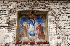 Het schilderen op de muur Royalty-vrije Stock Fotografie