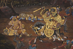 Het schilderen op de muur Royalty-vrije Stock Foto