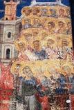 Het schilderen op een oud klooster Royalty-vrije Stock Fotografie